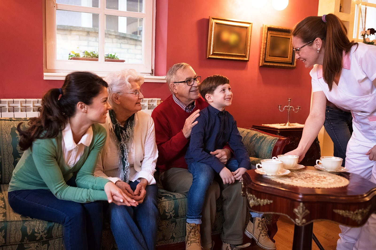 Family Visits: Family & Friends are always welcome to visit — Coffee is always on!​​