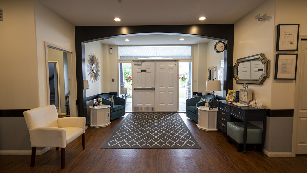 Front entrance and reception area
