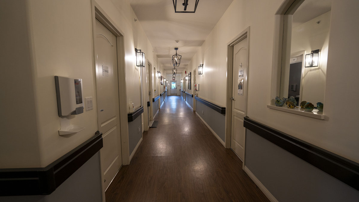 Resident room hallway