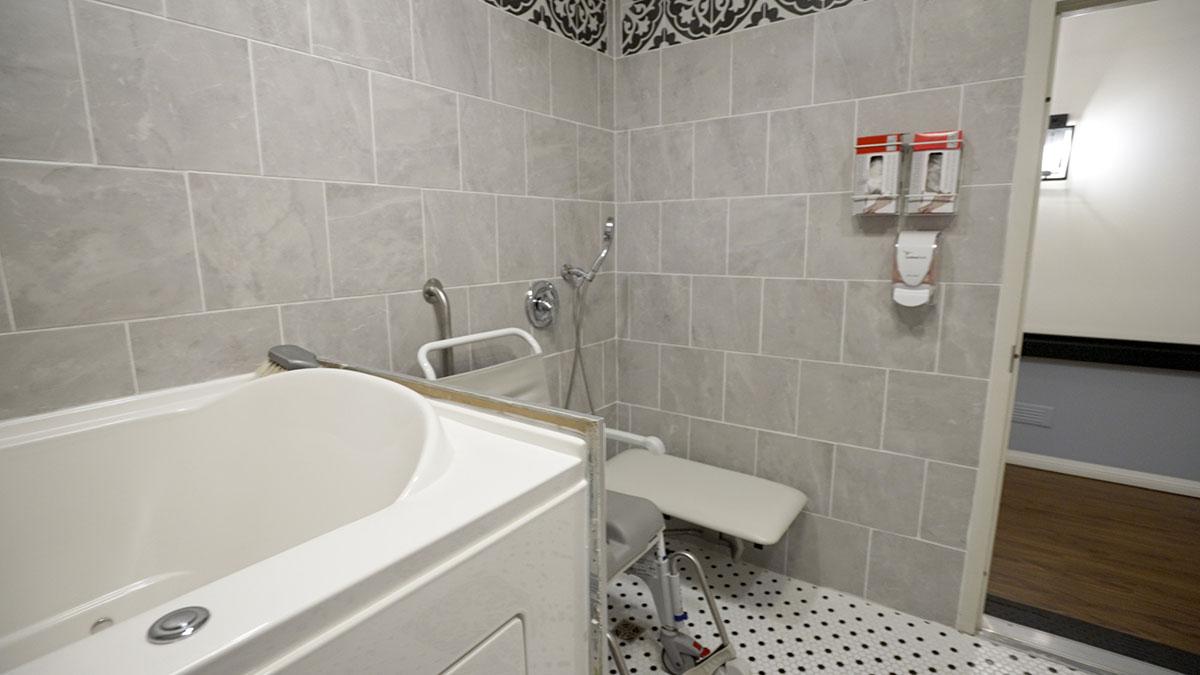 Wheelchair accessible bath